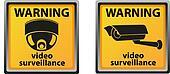 sign warning of surveillance camera