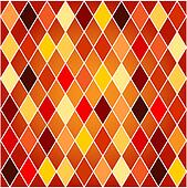 Seamless harlequin pattern-orange and red tones