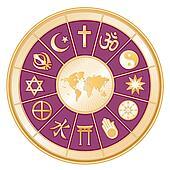 World Religions, World Map