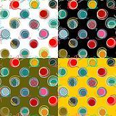 Colorful Seamless Yarn Balls Pattern