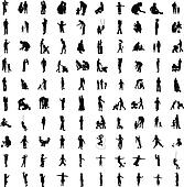 One hundred silhouettes of parent