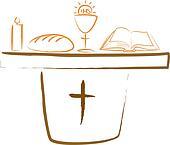 holy communion - altar and religiou