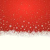 snowflake snow stars red white