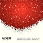 snowflake snow stars red white background