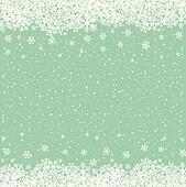 snowflake snow stars green white background