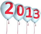 New Year 2013 balloons decoration