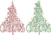 Christmas trees, vector