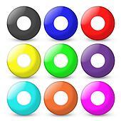 bingo balls set empty on center