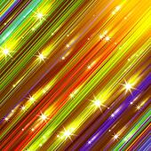 Glittering stars blurred colorful background