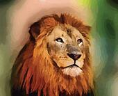 Royal King Lion Portrait Vector