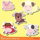 cute animal set08