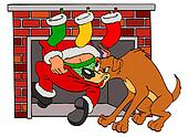 Santa Claus & Bad Dog Christmas