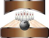 Bowling Design Template Banner