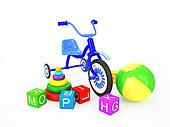 Children toys with tricycle