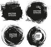 handmade black strokes- backgrounds