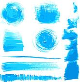 blue strokes painted by brush