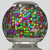 bubble gum in bowl