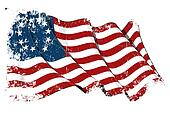 USA Betsy Ross flag Grunge