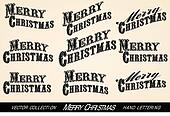 Selection Merry Christmas lettering