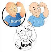 Security Guard Cartoon Character