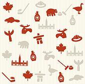 Canadian seamless pattern