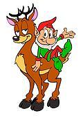 Christmas Elf & Reindeer