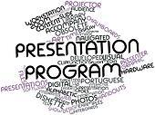 Word cloud for Presentation program