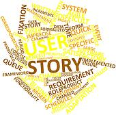 Word cloud for User story