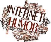 Word cloud for Internet humor