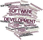 Word cloud for Software development