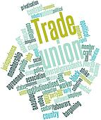 Word cloud for Trade union