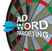 Ad Targeting Word on Dartboard Dart Words
