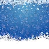 fall snow stars blue white background
