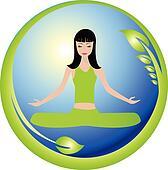 Yoga girl and nature world