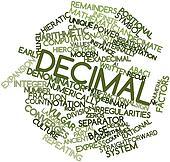 Word cloud for Decimal