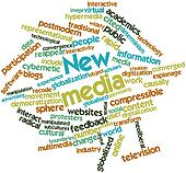 Word cloud for New media