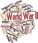 Word cloud for World War II