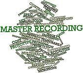 Word cloud for Master recording