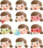 cute girl facial expressions