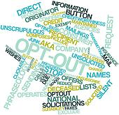 Word cloud for Opt-out