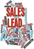 Word cloud for Sales lead