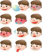 cute boy facial expressions