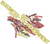 Word cloud for Business-to-government
