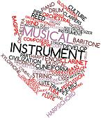 Word cloud for Musical instrument