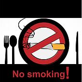 No smoking in dining room