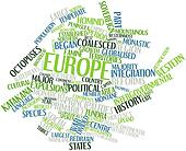 Word cloud for Europe