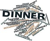 Word cloud for Dinner