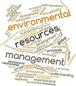 Word cloud for Environmental resources management