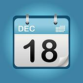 december blue calendar
