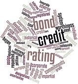 Word cloud for Bond credit rating